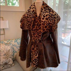Jackets & Blazers - Leopard Faux Fur Coat